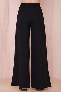 Ace Plazo Pants In Black Color