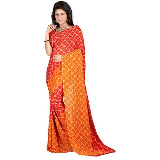 1st Home Red Color Georgette Saree