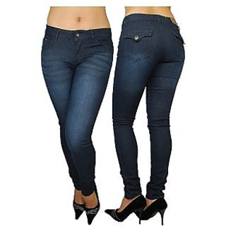 Ladies Jeans Sky Blue Colour
