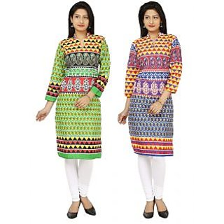 Multicolored Printed Designer Kurti