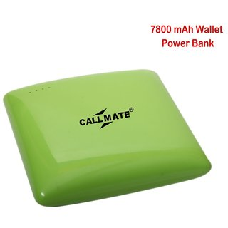 Callmate Power Bank wallet 7800 mah - Green