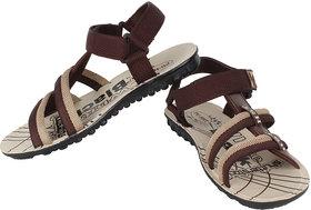 Oricum Footwear Mens Brown Velcro Sandals