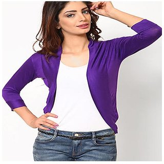 Purple Softwear Plain Shrug