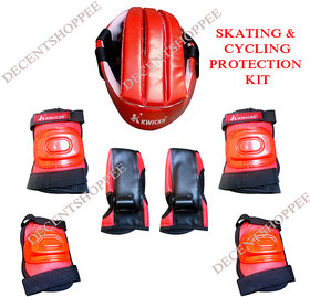 SKATE  CYCLING PROTECTION KIT with Helmet, Knee, Elbow Guards,  Gloves