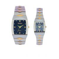 Faleda Italy Brand Quartz Anloge Couple Two Tone Watch P6111TTB