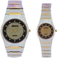 Faleda Italy Brand Quartz Anloge Couple Two Tone Watch P6115TTB