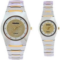 Faleda Italy Brand Quartz Anloge Couple Two Tone Watch P6115TTW