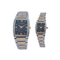 Faleda Italy Brand Quartz Anloge Couple Two Tone Watch P6159TTB