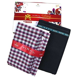 Vimal Combo pack Design Pant And Checkered Shirt