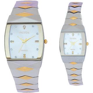 Faleda Italy Brand Quartz Anloge Couple Two Tone Watch P6111TTW