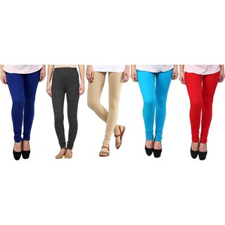 Stylobby Woolen Leggings Pack Of 5 BlGrBeSbR