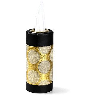 Cylinder Cup Shape Tissue Box Dispenser Storage Cover Paper Holder Home Car Decor Gold