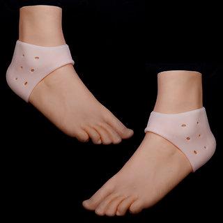 1 Pair Footful Anti-slip Silicone Moisturising Gel Heel Cracked Foot Care Protectors Socks