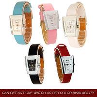 Genx Analog Leather Wrist Watch - Women