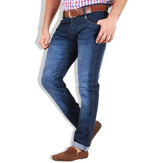 Goswhit Slim Fit Dark Blue Jeans