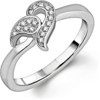 Om Jewells Sterling Silver Gorgeo ring with CZ stones for Women FR7000511