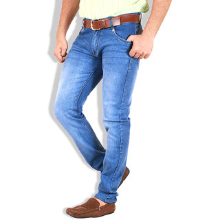 Goswhit Slim Fit Light Blue Jeans