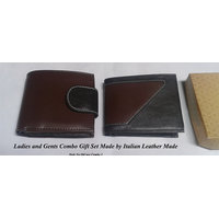 Combo Gift Set Of Ladies And Gents Italian Leather Wall