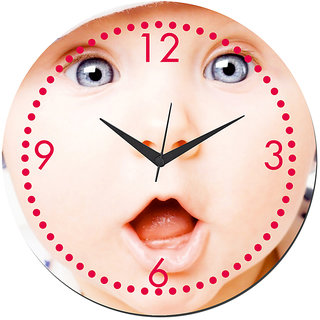 Mesleep Baby Wall Clock With Glass Top