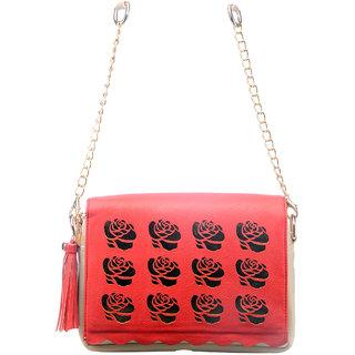 Doro Scallopino Flap Rose Cut Sling Bag