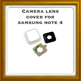 New Camera Lens Glass Cover - For Samsung Galaxy Note 4 - White