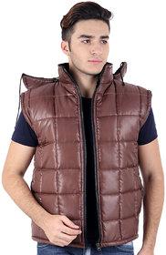 christy  Stylish Sleevless Hood Long Mens Jacket