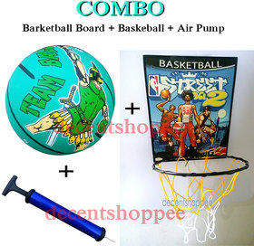 Super Combo Pack, Basketball Board + Basketball + Air Pump