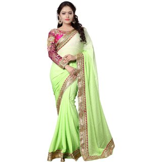 Avf Jacquard Saree - Green