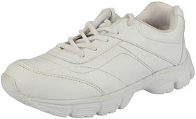 Unistar Mens White Lace-Up Running Shoes