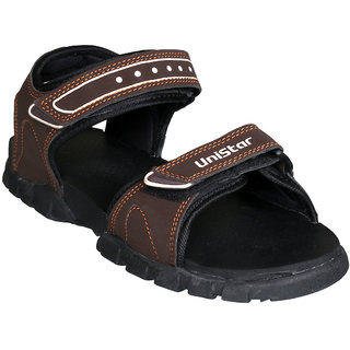 Unistar Mens Brown Velcro Sandals