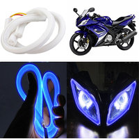 Capeshoppers Flexible 30Cm Audi / Neon Led Tube For Yamaha Yzf-R15- Blue