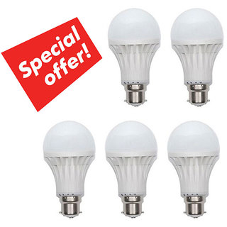7 Watt Led Bulb - Set of 5