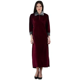 Magenta Velvet Nait wear Goun  Assorted Colors