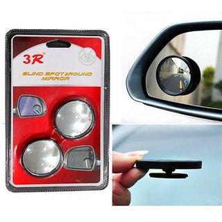 Takecare 3R Round Flexible Blind Spot Rear Side Mirror Set Of 2 For Cars For Honda City I Vtec Sv