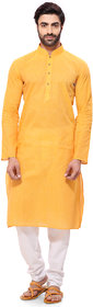 RG Designers Mens Handloom Yellow Kurta