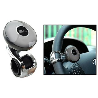 Black Label - Car Steering Wheel Power Holder Knob Spinner For Hyundai Fluidic Verna 4S