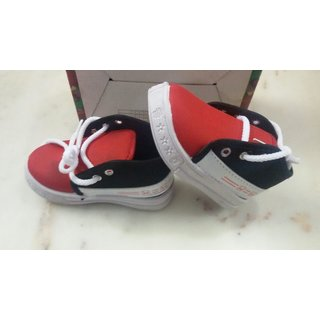 Stylish Red  Mix color Kid Shoes - Light Weight