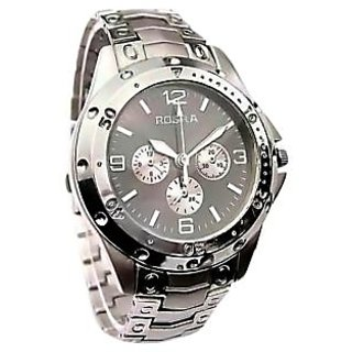 Rosra Stylish Analog Silver Metal Wrist Watch - Men