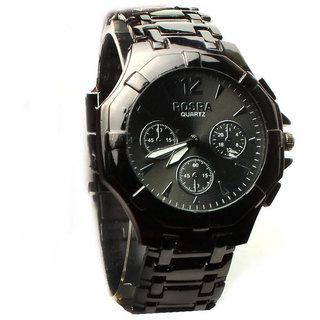 Rosra Stylish Men's Analog Watch (Greyish Black Colour)