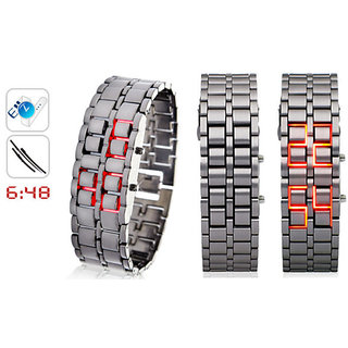 SAMURAI LED WATCH With Box Packing