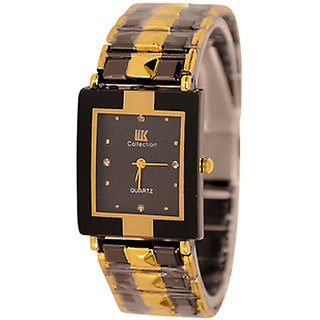 Stylish Wrist Watch for Men iik golden