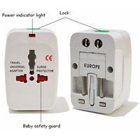 All In One Universal World AC Power Plug Adapter International Travel Chager