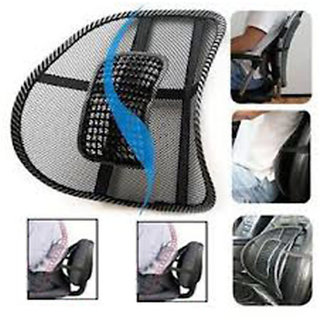 Takecare Car Seat Chair Massage Back Lumbar Support (Pack Of 2) For Toyota Fortuner 2010-2013 Type-2