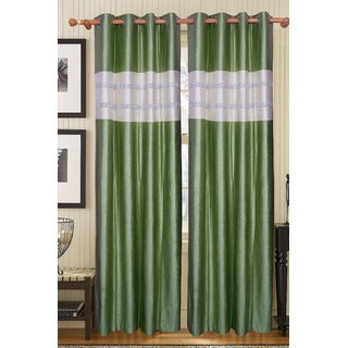 Furhome Polyester Multicolor Floral Eyelet Window  Door Single Curtain.To203