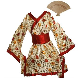 buy japanese girl fancy dress costume for girls with prop kimono