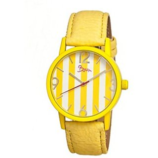 Watch Yellow Bracelet With Leaf charm for Girls