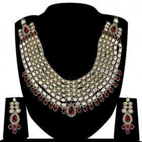 Zaveri Pearls Grand Mughal Kundan Beautiful Long Necklace Set-ZPFK4152