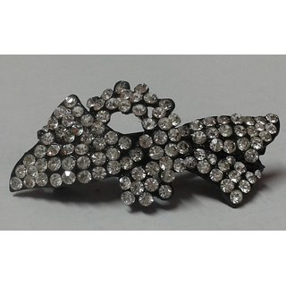 Hair pin with white stones