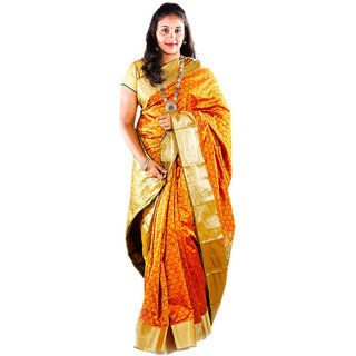 Kanchivaram Multi Color Silk Saree