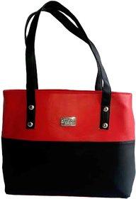 Womaniya Shoulder Bag (Red-Black)